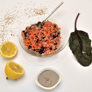 Caramelized Beetroot with Bulgur