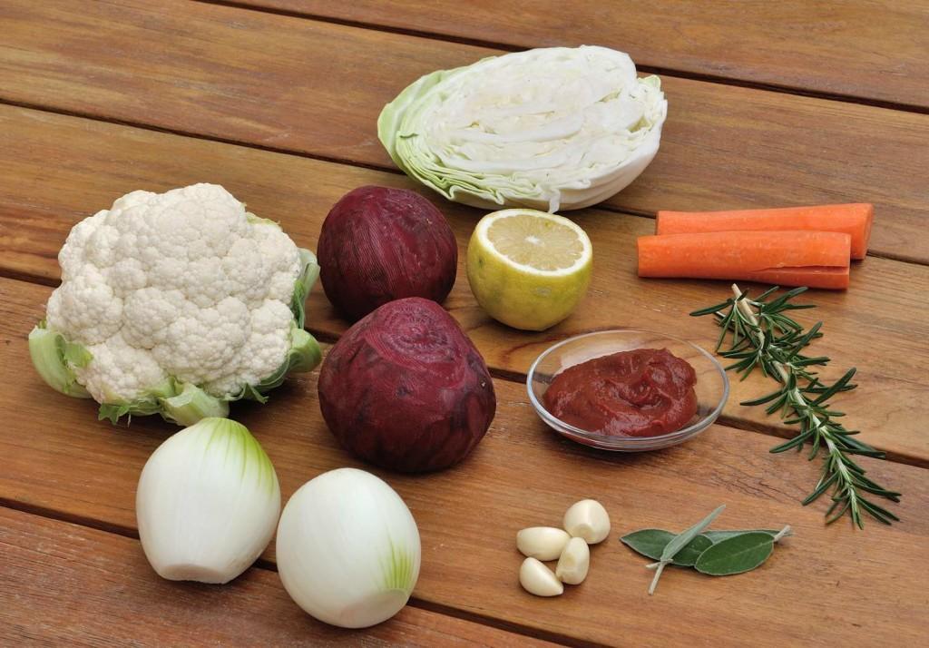 Vegan Borscht Ingredients