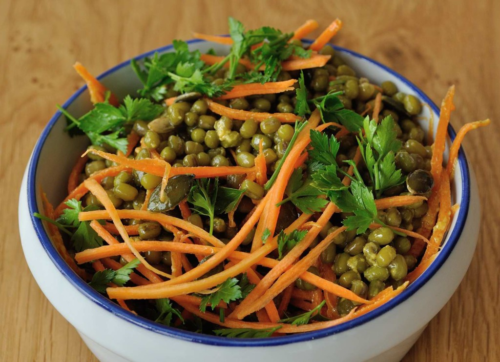 Steamed Mung Beans Salad