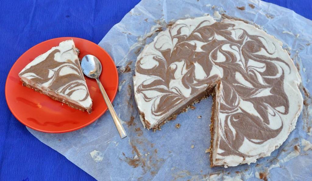 Vegan Nutella Ice Cream Cake