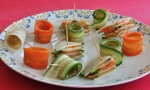 Walnuts Spread Filled Vegetable Rolls
