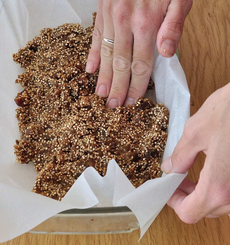 Dates and Puffed Quinoa Bars