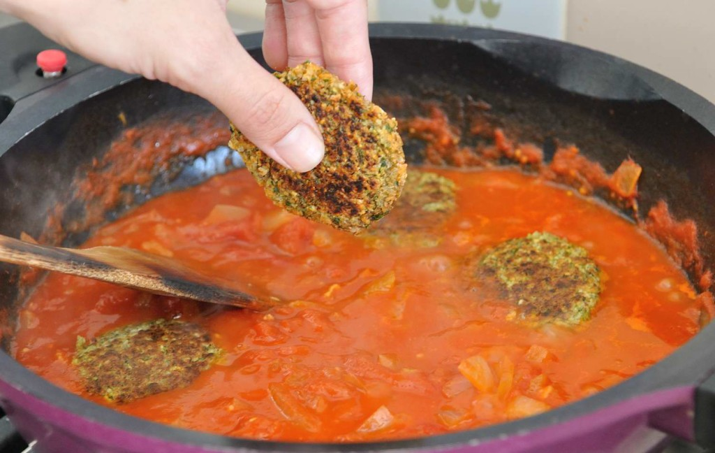 Almond Lentils patties in tomato gravy (Gluten Free)