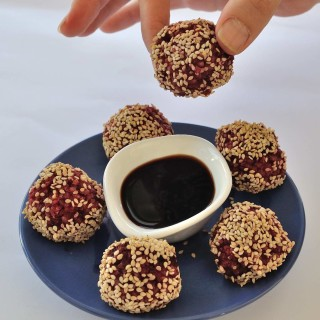 Beet and Rice Leftovers Balls