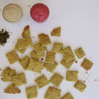 Za'atar Flavored Crackers (Vegan + Gluten Free)