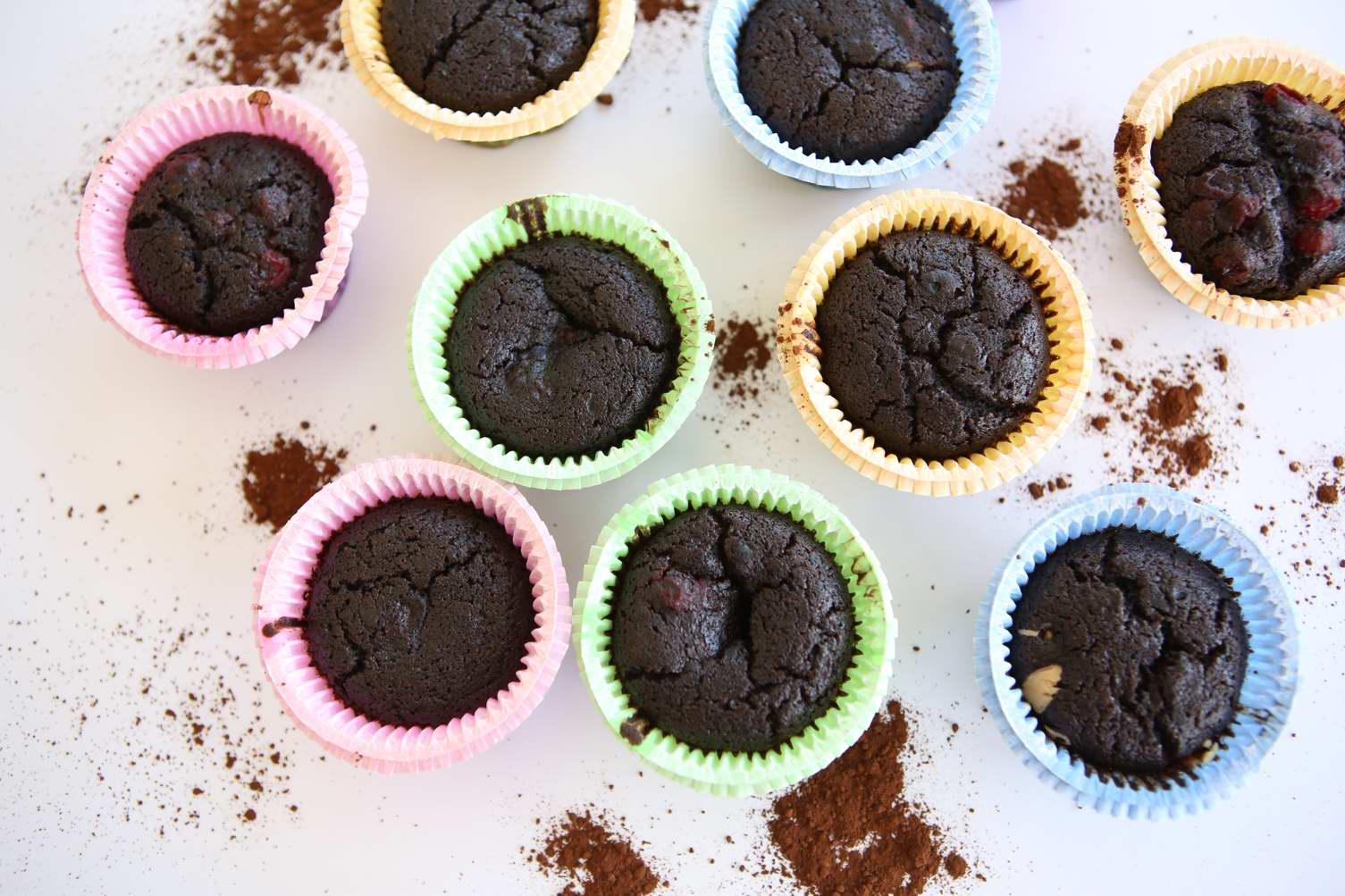 Teff Flour Chocolate Muffins