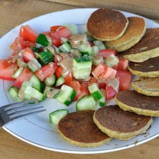 Chickpea flour mini omelettes
