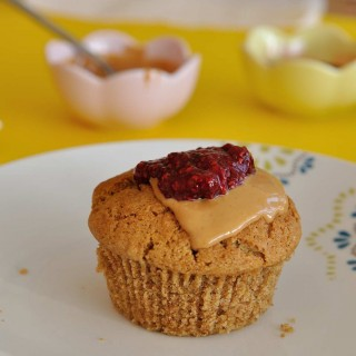 Peanut Butter and Jam One Bowl Vegan Muffins