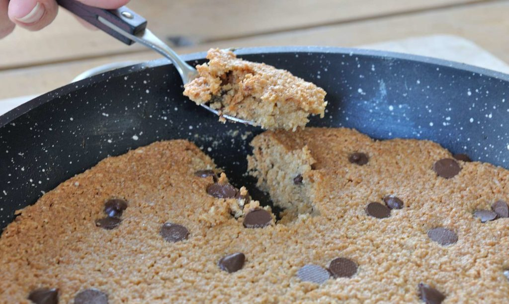 Almond Butter Maple Skillet Cookie