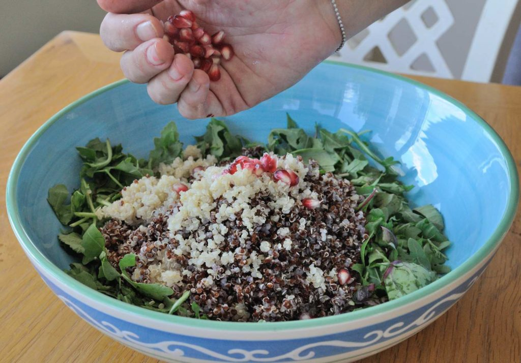 Double Quinoa and Baby Mix in Tahini Maple Vinaigrette