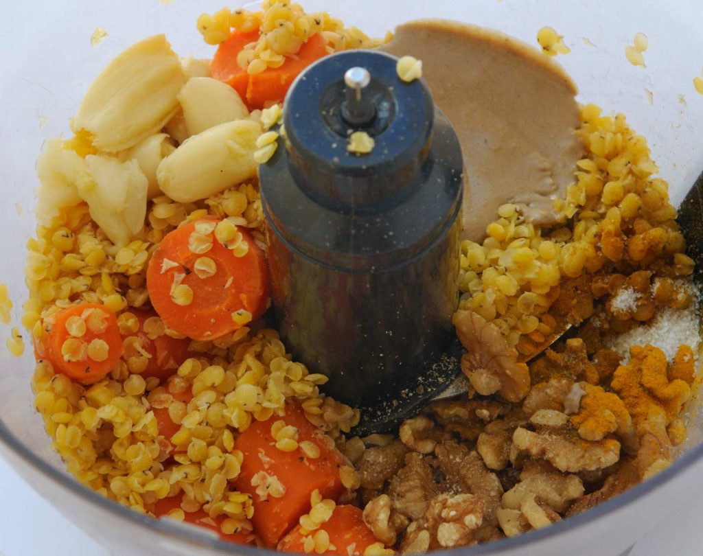 Red Lentil Carrot Hummus