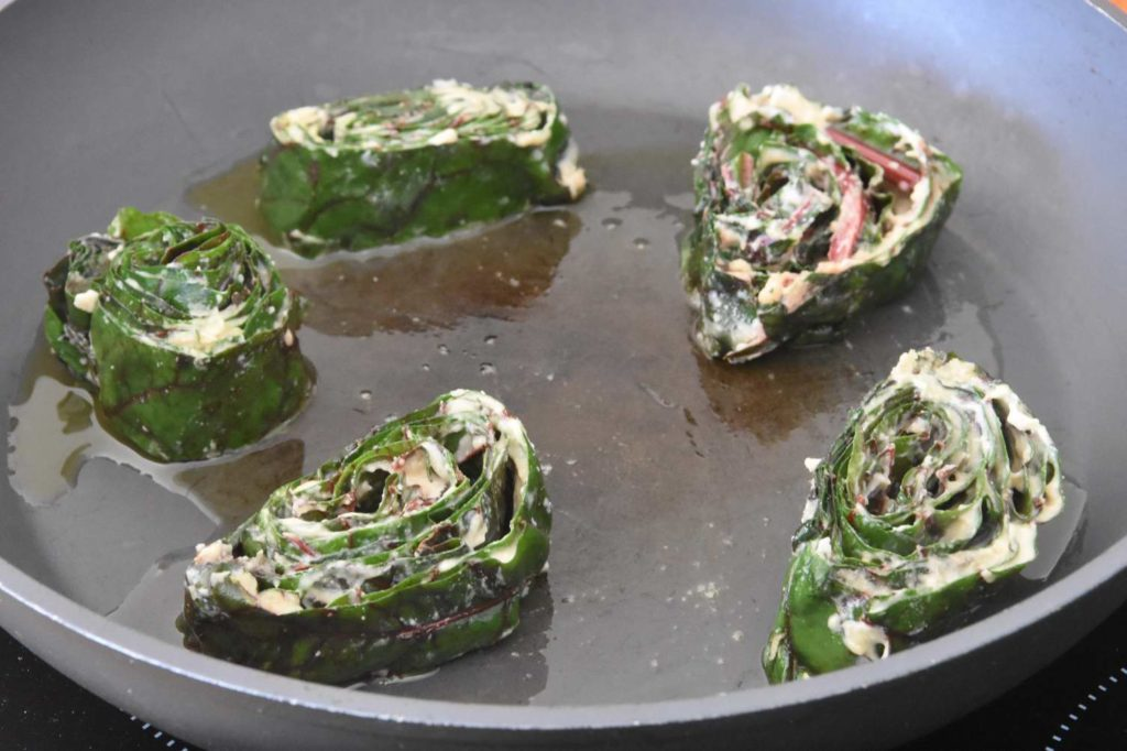 Chard Pinwheels (Indian Alu Wari)