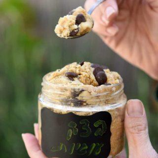 בצק עוגיות טבעוני (אכיל!)