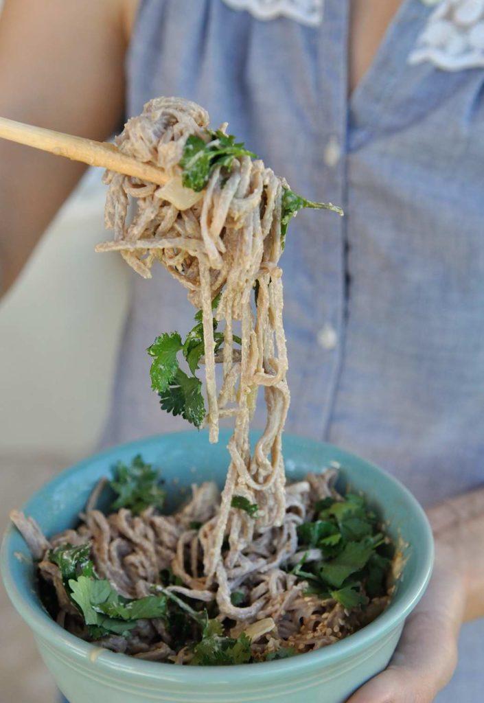 Soba Peanut Butter Noodles Bowl