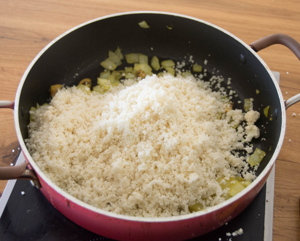 "Quick Cauliflower ""Rice"""
