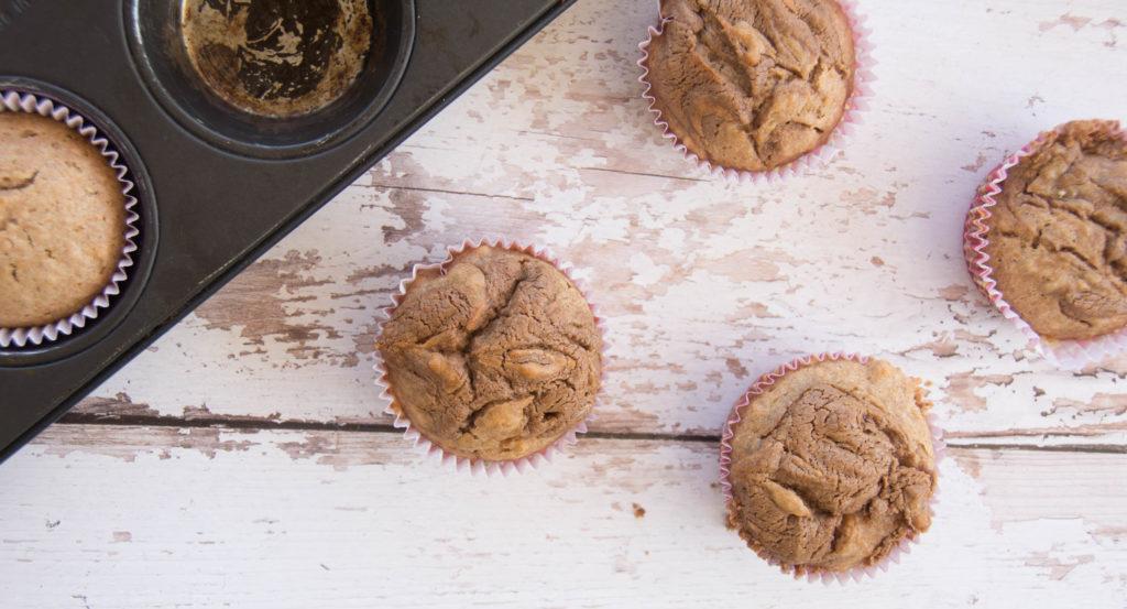 "Vegan Vanilla Muffins With ""Nutella"" Swirl"