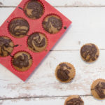 "Vegan Vanilla Muffins With ""Nutella"" Swirl"