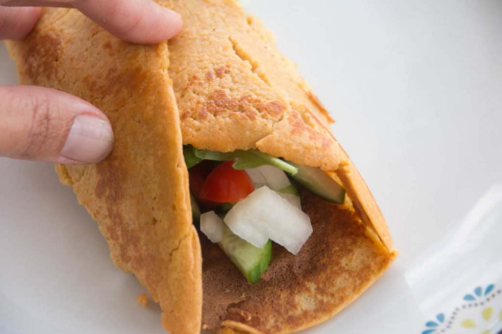 Vegan Omelette Roll