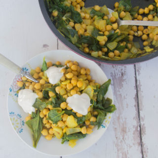 Warm Chickpeas and Chard Salad