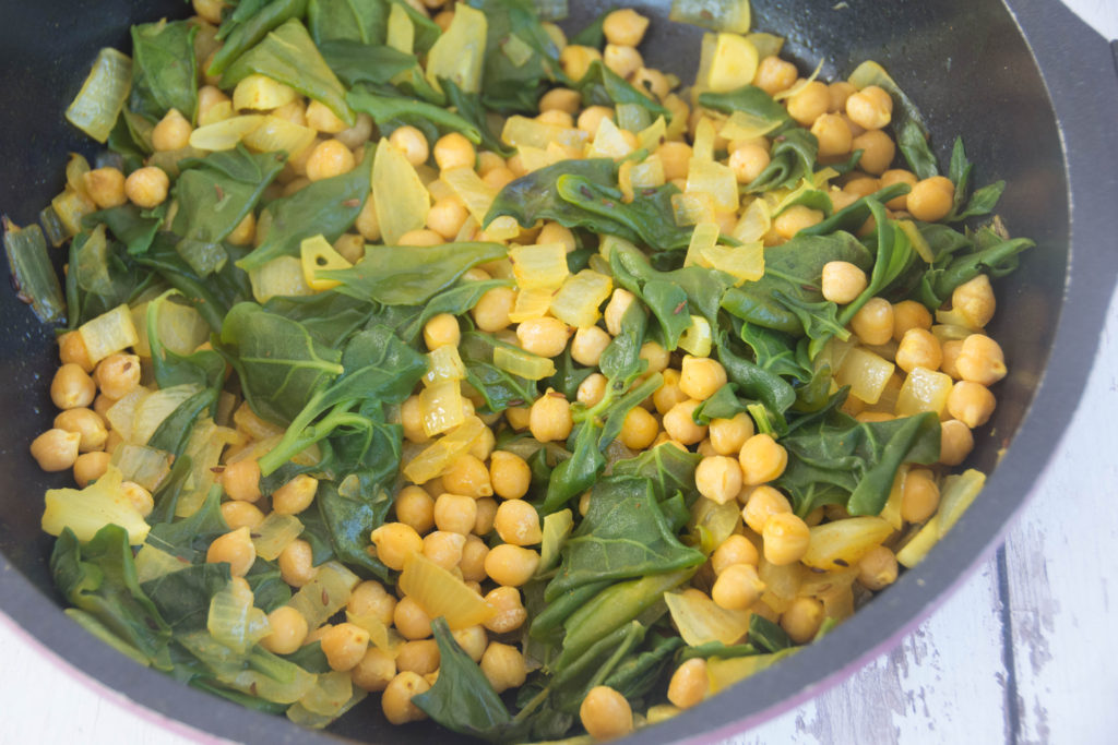 Warm Chickpeas and Chard Salad